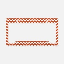chevrons white pumpkin RP License Plate Holder
