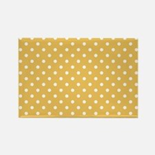 golden with white dots Rectangle Magnet
