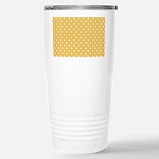 golden with white dots Travel Mug
