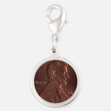 Lucky Penny Silver Round Charm