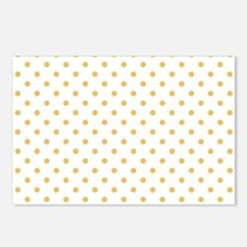 white with golden dots Postcards (Package of 8)