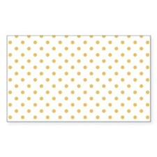 white with golden dots Decal