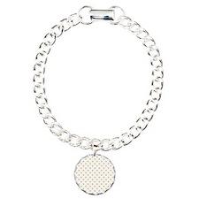 white with golden dots Bracelet