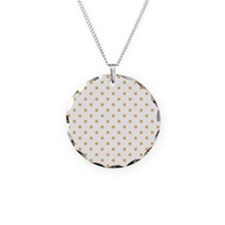 white with golden dots Necklace