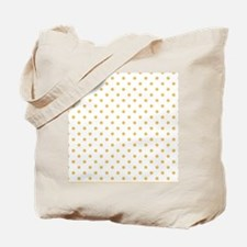 white with golden dots Tote Bag