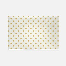 white with golden dots Rectangle Magnet