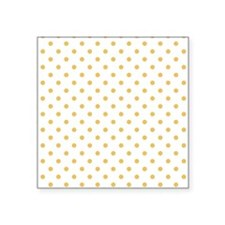 """white with golden dots Square Sticker 3"""" x 3"""""""