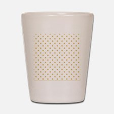 white with golden dots Shot Glass