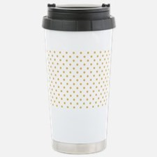 white with golden dots Stainless Steel Travel Mug