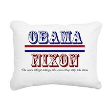 Obama / Nixon II Rectangular Canvas Pillow