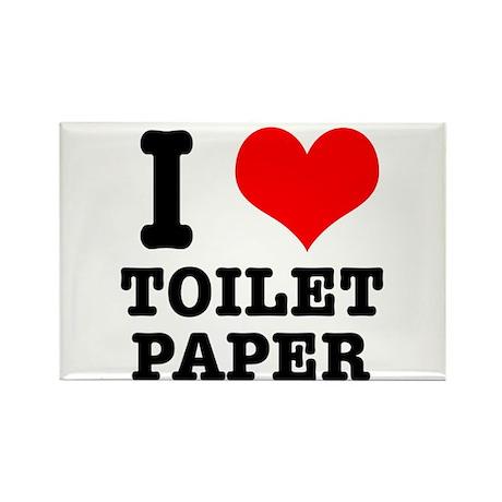 I Heart (Love) Toilet Paper Rectangle Magnet