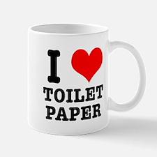 I Heart (Love) Toilet Paper Mug