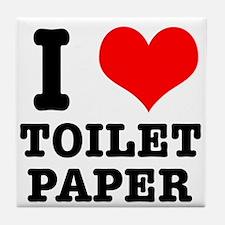 I Heart (Love) Toilet Paper Tile Coaster