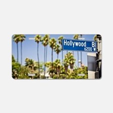 Hollywood Blvd Aluminum License Plate