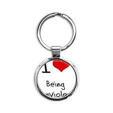 I Love Being Nonviolent Round Keychain