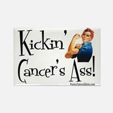 Kickin Cancers Ass! Rectangle Magnet
