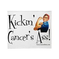 Kickin Cancers Ass! Throw Blanket