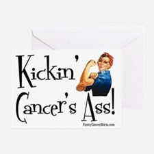 Kickin Cancers Ass! Greeting Card