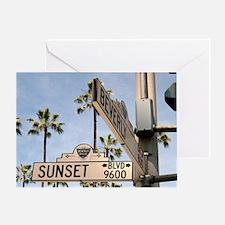 Sunset Blvd 9600 Greeting Card