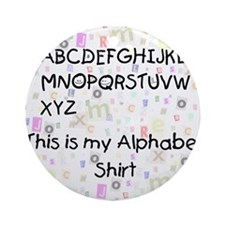 Alphabetshirt Round Ornament
