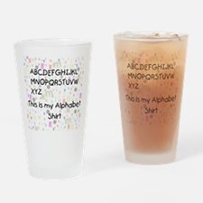 Alphabetshirt Drinking Glass