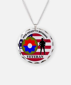 9th Infantry Division Necklace Circle Charm