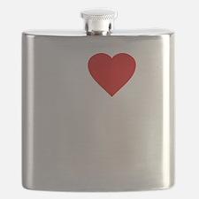 I Love Motor Boating Flask