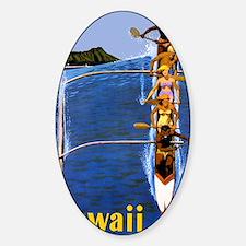 Vintage Hawaii Boat Travel Decal