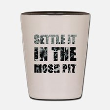 Settle It In The Pit Shot Glass