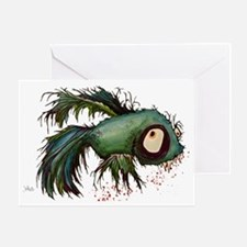 zombiefied betta fish Greeting Card