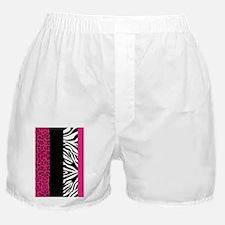 Hot Pink Animal Print Stripes Zebra   Boxer Shorts