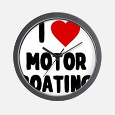 I Love Motor Boating Wall Clock