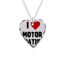 I Love Motor Boating Necklace