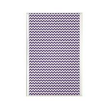 Chevrons White med purple 3x5 Rectangle Magnet