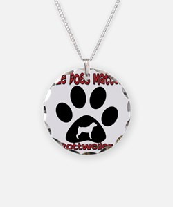 Rottweiler -Size Matters Necklace