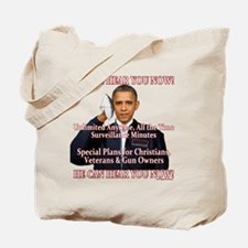 He Can Hear You Now Tote Bag