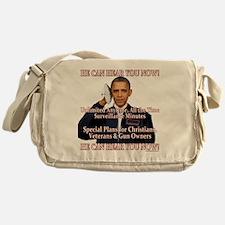 He Can Hear You Now Messenger Bag