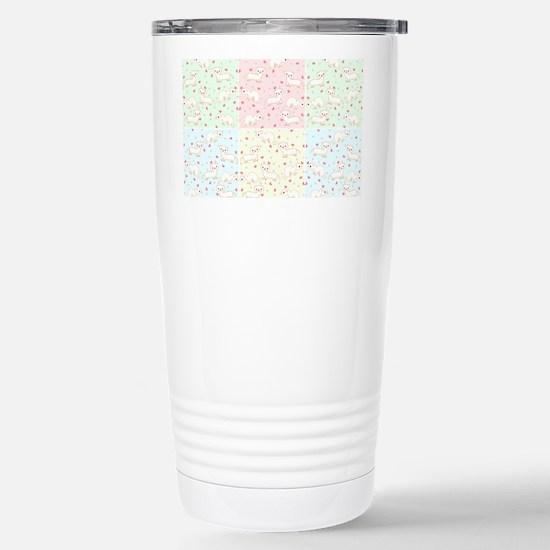 Albino Ferrets Kits Stainless Steel Travel Mug