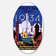 Chicago Worlds Fair 1934 Decal