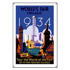 Chicago Worlds Fair 1934 Banner
