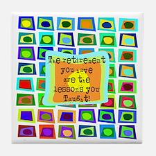 Retired Teacher PILLOW Funky Tile Coaster