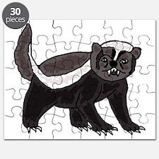 Funny Honey Badger Cartoon Puzzle