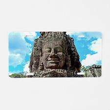 Smiling Buddha Aluminum License Plate