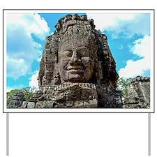 Smiling Buddha Yard Sign