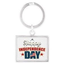 Happy Independence Day Landscape Keychain