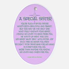 A Special Sister Keepsake (Oval)