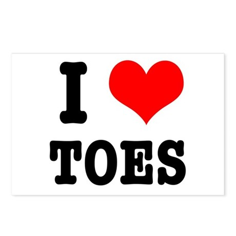 I Heart (Love) Toes Postcards (Package of 8)