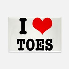 I Heart (Love) Toes Rectangle Magnet