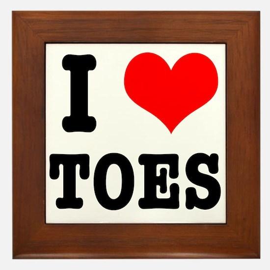 I Heart (Love) Toes Framed Tile