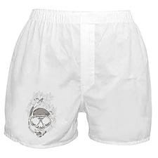 Diver Skull Boxer Shorts